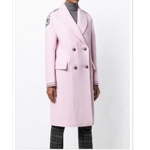 ERMANNO SCERVINO Pink double-breasted coat